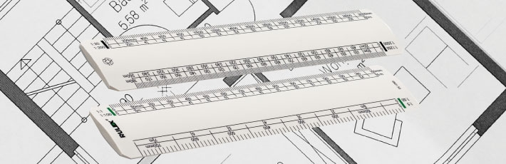 Recycled scale rulers